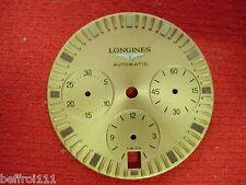 Cadran doré montre Longines chronograph watch automatic dial date chrono vintage