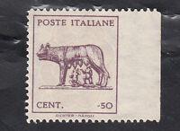 ITALIA LUOGOTENENZA 1944 Varietà Lupa Capitolina non dentellato A DESTRA MNH**