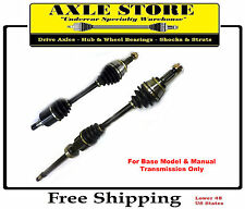 Pair: 2 New CV Axles L & R With Warranty Fit Cooper Base Model Manual Trans
