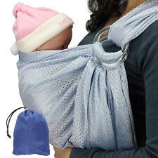 Baby Tragetuch Bauchtrage Wassersling Badesling Ringsystem Ring Slim Carrier