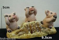 statuette trois cochons de la sagesse BAISSE DE PRIX POUR NOEL  ****T4