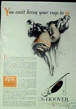 1929 Hoover Vacuum Sweeper Household Appliance Vintage Collectible Art Print AD