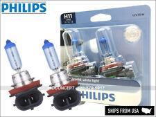NEW! PHILIPS H11 Crystal Vision Ultra HID LOOK Bulbs 12362CVB2 55W 12V DOT 4000K