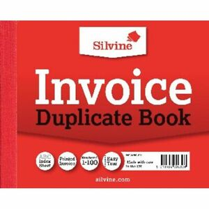 Silvine Duplicate Invoice Book 102x127mm (Pack of 12) 616 FAST & FREE DELIVERY