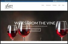 """Fully Stocked Dropship FINE WINE Website Business. High Margin """"300 Hits A Day"""""""