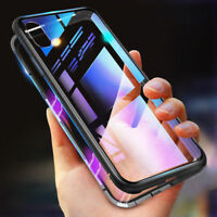 360° Magnetic Adsorption Metal Case For iPhone XS MAX XR Tempered Glass Cover