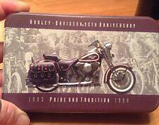 HARLEY DAVIDSON 95th ANNIVERSARY COMMEMORATIVE 2PK PLAYING CARD SET W/TIN-RARE-