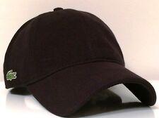 Lacoste 2015 Roddick Side Croc Mesh Fabric Cap Hat $55 NWT Black