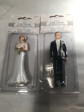 Bride 4.1in  And Groom 4.5in Cake Topper Decoration Two-Pieces