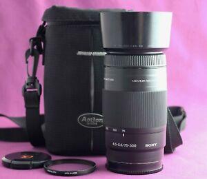 Sony 75-300mm F4.5-5.6  Autofocus Zoom Lens Sony A Mount   2180C