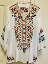 Johnny Was, Embroidered, Nylon Top, Large