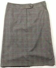 Orvis Pencil Skirt Size 10 Plaid Back Slit Faux Pocket Career Job Workplace