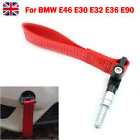 1X For BMW E46 E30 E32 E36 E90 RED Car Trailer Ring Tow Towing Hook Strap 5000lb