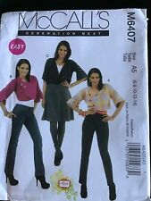 McCALLS UNCUT JACKET PATTERN..SIZES 6-14...Ref M6407...Three variations