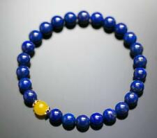 Natural 8mm Lapis Lazuli Healing Crystal Stretch Beaded Bracelet Unisex