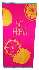 rose vif cerise So frais Citrons Serviette de plage jumbo grand drap bain 100%