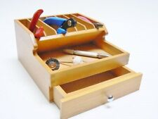 Plier Rack Organizer with Storage Drawer Compartment Jewelry Bench Top Tool