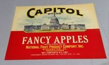Capitol Brand National Fruit Product Company Inc Winchester Virginia Label