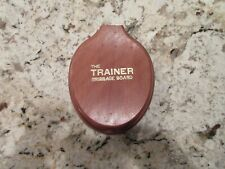 Vintage Cribbage Board The Trainer Wooden Oval Toilet Seat With 4 Pegs