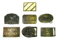 Vintage Belt Buckle Lot of Seven (7) All in Good Condition!
