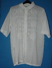 """Chemise blanche manches courtes """"Miss Helen"""" vintage Taille 1 FEMME"""