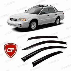 For Subaru Baja 2002-2006  Window Visors Side Sun Rain Guard Vent Deflector