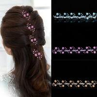 6pcs Ladies Wedding Bridal Plum flower Hair Pin Crystal Hair Clip Hair Accessory