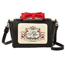 Disney Store Japan Alice in Wonderland Faux Leather 2 Way Bow Shoulder Hand Bag