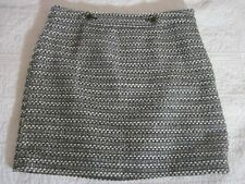 LOFT Womens Skirt Size 10P Black/White Tweed Wool Blend