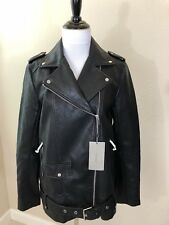 NEW W/ TAGS Womens ZARA Faux Leather Moto Jacket Size Small