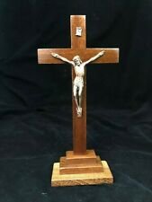 Standing Religious Wooden Cross with Jesus