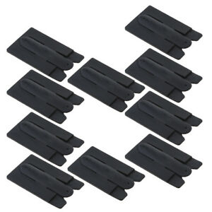 """10 Pack """"Touch-C"""" Silicone Phone Back Stand Credit Card Pouch Holder Black"""
