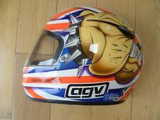 Agv Británico Bulldog Casco De Motocicleta-Cueva de hombre mitad casco de visualización en la pared-mira