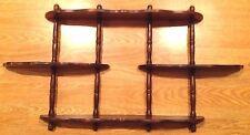 "Vintage Wood Mid-Century Knick Knack Shelf Large 30"" Wall Hang 3 Tier Display"
