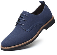 Suede European style leather Shoes Men's oxfords Casual Multi Size Fashion