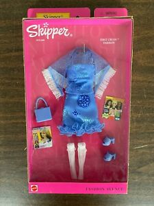 2001 Barbie Fashion Avenue First Crush Skipper Blue Dress Heels NIB Mattel 25753