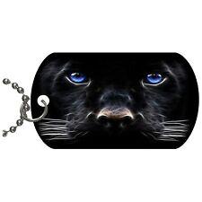 Black Panther  Metal Necklace Pendant Dog Tag