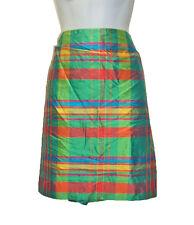 Ralph Lauren Green/Multi Plaid Silk Skirt sz 16 New
