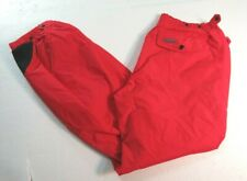 COLUMBIA Shell Pants Ski Snowboard Snow Nylon MENS Sz L Vtg 1980s Red & Black