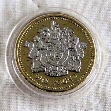 2003 QEII una libra oro en capas con rodio platino