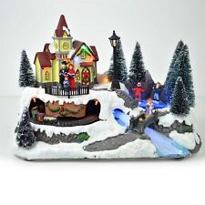 Big Christmas LED Musical Light Up Sculpture Nativity Set Xmas Home Decorations
