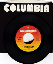 STIRLING SILVER-COLUMBIA 10329 RARE 70'S SOUL 45RPM DAMNED IF I DO  VG++