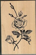Stampa Rosa Rubber Stamp J9-192 Rare Romantic Rose, Flowers S9