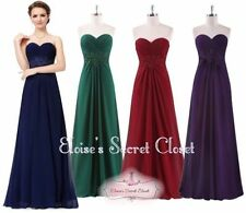 Chiffon Dresses for Women with Strapless/Bandeau