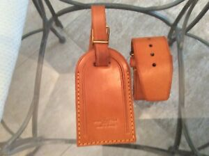 LOUIS VUITTON STRAP HOLDER and Address Tag for KEEPALL/BANDOULIERE Vachetta #A10