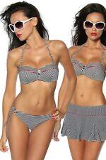 Push-Up Bikini-Set, schwarz/weiß/rot NEU von Samegame Räumungsverkauf!
