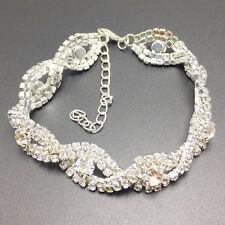 Mode Silber Kristall Armband Damen Infinity Kette Strass Armreif Armband Schmuck