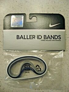Nike Lebron James Baller ID Bands Wristbands Bracelets Brand New Set of 3