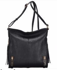 Concealed Carry CCW Gun Crossover Handbag Black Purse Vegan Leather