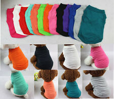 XS-3XL Cotton Pet Clothes Dog Shirt Cat Poodle Puppy Bulldog Shirt Vest Apparel